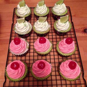Key Lime and Raspberry Lime Cupcakes